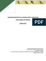 Comportamiento de La Produccion y Precio Del Maiz en Mexico