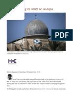 Israel Checking Its Limits on Al-Aqsa