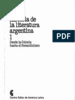 Historia de la literatura argentina 1