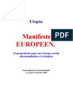 Utopia Manifeste Européen