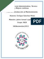 Proceso Administrativo, Tecnico y Mejora Continua.