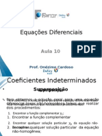 Coeficientes Indeterminados - Superposição