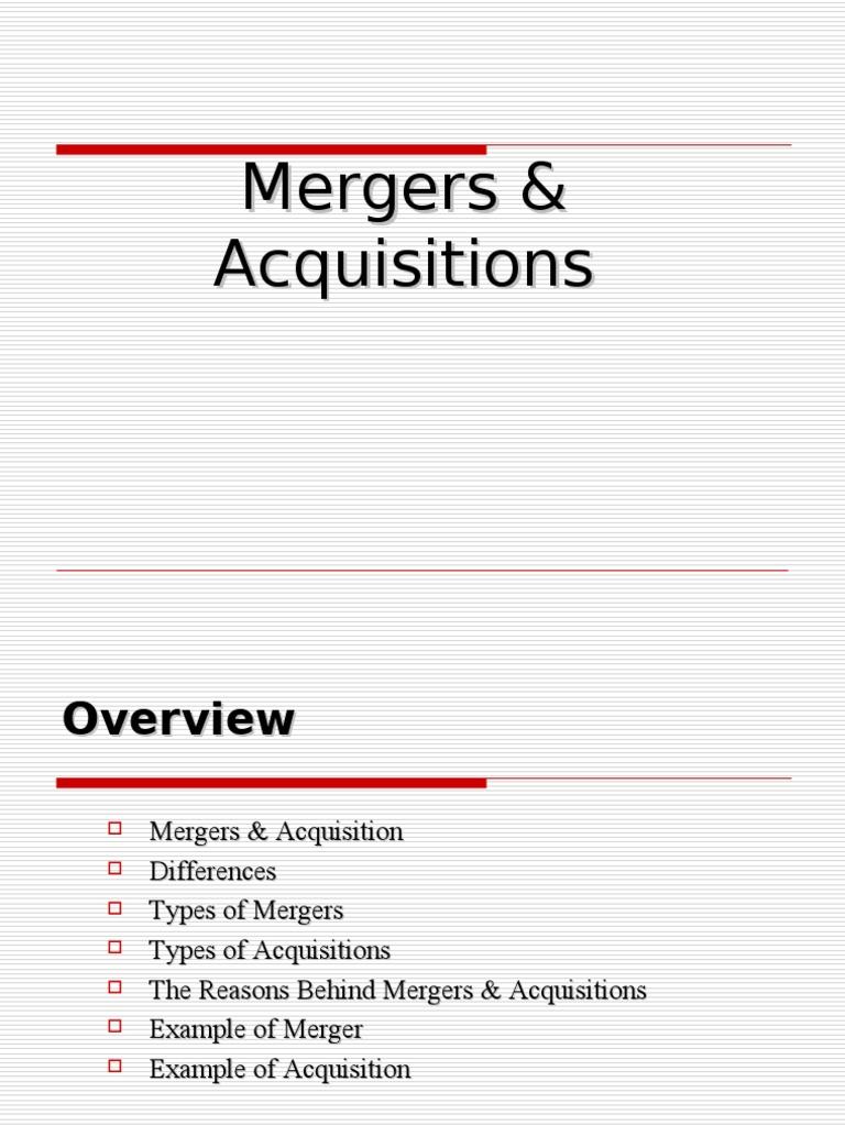 merger acquisition joint venture