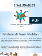 ppt- PAUSAS SALUDABLES