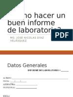 Como presentar un informe de laboratorio