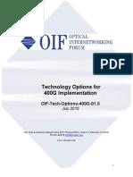 OIF Tech Options 400G 01.0