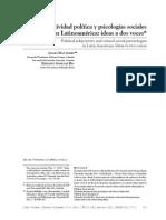 Subjetividad política y psicologías sociales críticas en Latinoamérica