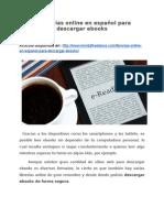 4 Librerías online en español para descargar ebooks
