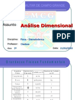 2. Analise Dimensional