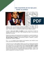 ESTE ES EL MAS IMPORTANTES DE LOS TIPS PARA HABLAR EN PUBLICO