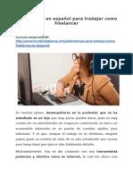 Alternativas en español para trabajar como freelancer