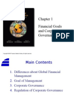 01. Financial Goals and Corporate Governance
