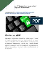 15 Servicios VPN gratuitos para saltar bloqueos en Internet