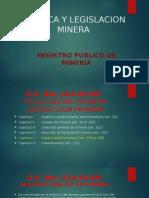 Politica y Legislacion Minera