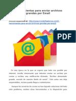 5 herramientas para enviar archivos grandes por Email