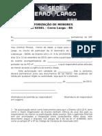 2 - Autorização de Menores SEDEL Cerro Largo AL 2015 2016