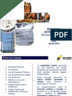Politicas Para El Desarrollo de La Industria de Gas Natural en Ecuador