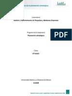Unidad 2. Elementos y Etapas de La Planeacion Estrategica