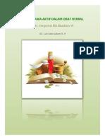 Tentir K.3 Senyawa Aktif Dalam Tanaman Herbal