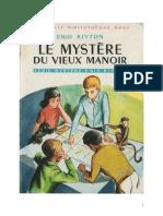 Blyton Enid Fr Série Mystère 1 Le Mystère Du Vieux Manoir 1949 Barney the Rockingdown Mystery