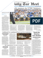 The Daily Tar Heel for Sept. 21, 2015