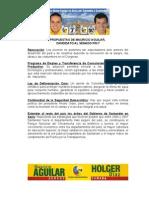 Propuestas de Mauricio Aguilar, Candidato Al Senado