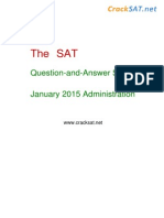 January 2015 Original SAT I Test