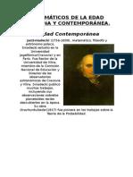 Matemáticos de La Edad Moderna y Contemporánea