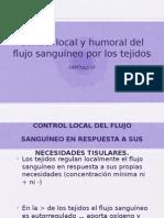17. Control Local y Humoral Del Flujo Sanguíneo Por