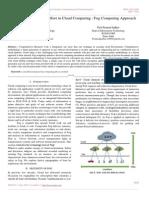 Comprehensive Study Effort in Cloud Computing Fog Computing Approach