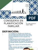 Consejeria en Planificacion Familiar Upao 2015