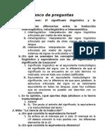 Banco de Preguntas - Introducción a laTraductología