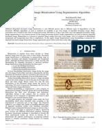 Degraded Document Image Binarization Using Segmentation Algorithm