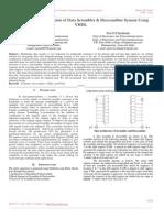Design and Implementation of Data Scrambler & Descrambler System Using VHDL