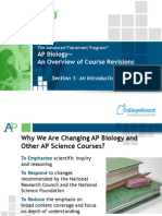 CB-AP Bio Overview Course Revisions