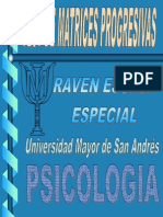 Test Raven Matrices Progresivas