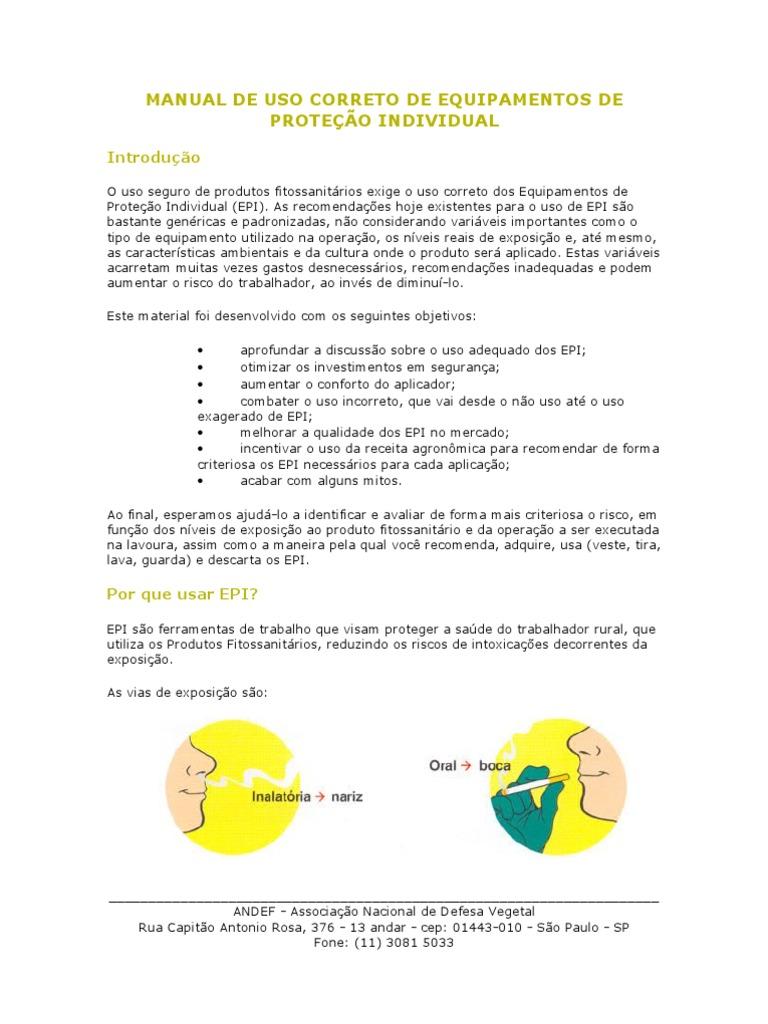 Manual de Uso Correto de Equipamentos De 0f5fb982c6