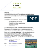 Green Legal Matters Invite