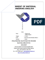 Assignment of Material Engineering English