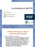 Sap Ps Online Trining in Us,Uk,Canada and certification courses
