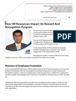 How HR Resources Impact On Reward And Recognition Program