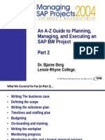 Managing SAP BW Projects Part-2