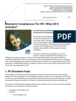 Statutory Compliances For HR- What All It Includes?