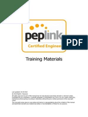 Peplink Certified Engineer Training Program   Virtual