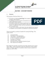 Blue Sheet Analysis