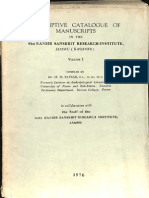 Descriptive Catalog of Sanskrit Manuscripts in Sri Ranbir Sanskrit Research Insitute Jammu Volume I - M.M. Patkar.pdf_Part1