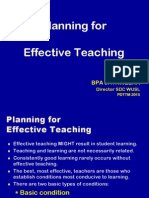 1. Plann for Efective Teaching