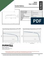 Duracell Cr2032 Datasheet