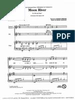 Moon River - music score for Flute, Piano, Violin & Cello