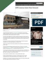 Teva Pharm Sees 2015 Revenue Lower Than Forecast _ Reuters